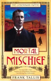 Cover of: Mortal Mischief | Frank Tallis