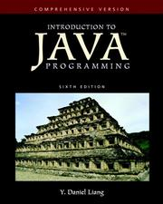 Cover of: Introduction to Java Programming-Comprehensive Version