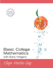 Cover of: Basic College Mathematics with Early Integers (Martin-Gay Developmental Math Series)