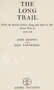 Cover of: The long trail | Brophy, John