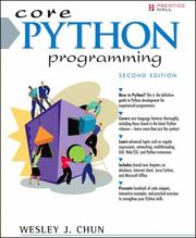 Cover of: Core Python Programming (2nd Edition) (Core Series) | Wesley J. Chun