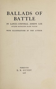 Cover of: Ballads of battle | Joseph Lee