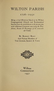 Cover of: Wilton Parish, 1726-1951
