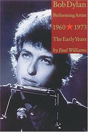 Cover of: Bob Dylan, Performing Artist