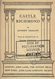 Cover of: Castle Richmond | Anthony Trollope