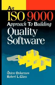Cover of: An ISO 9000 approach to building quality software