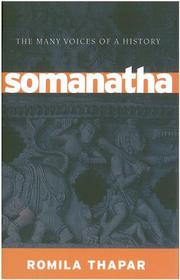 Cover of: Somanatha | Romila Thapar