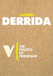 Cover of: The Politics of Friendship (Radical Thinkers) (Radical Thinkers)