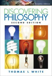 Cover of: Discovering Philosophy, Portfolio Edition (2nd Edition) | Thomas I. White