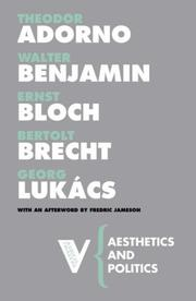 Cover of: Aesthetics and Politics (Radical Thinkers) | Walter Benjamin