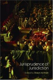 Cover of: Jurisprudence of Jurisdiction (UCL) | McVeigh