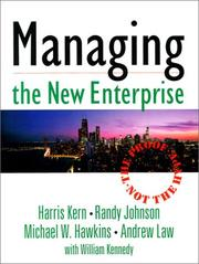 Cover of: Managing the new enterprise : the proof, not the hype