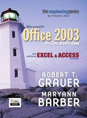 Cover of: Exploring Microsoft Office Plus Edition with additional Excel & Access coverage (Grauer Exploring Office 2003 Series)