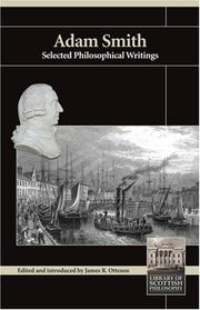 Cover of: Adam Smith: selected philosophical writings