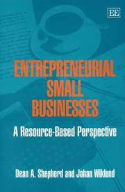 Cover of: ENTREPRENEURIAL SMALL BUSINESSES: A RESOURCE-BASED PERSPECTIVE by DEAN A. SHEPHERD