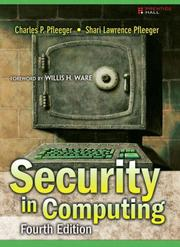Cover of: Security in Computing (4th Edition) | Charles P. Pfleeger