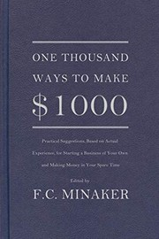 Cover of: One thousand ways to make $1000 | Frances Mary Cowan Minaker