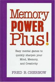 Cover of: Memory power plus! | Fred B. Chernow