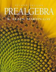 Prealgebra by K. Elayn Martin-Gay