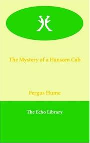 Cover of: The Mystery of a Hansom Cab | Fergus Hume
