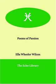 Cover of: Poems of passion