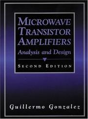 Cover of: Microwave Transistor Amplifiers | Guillermo Gonzalez