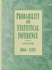 Cover of: Probability and statistical inference | Robert V. Hogg