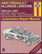 Cover of: AMC/Renault Alliance & Encore owners workshop manual | John Harold Haynes