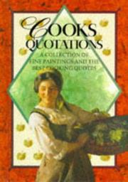 Cover of: Cooks Quotations (Quotation Book)