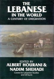 Cover of: The Lebanese in the world