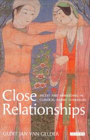 Cover of: Close relationships | G. J. H. van Gelder