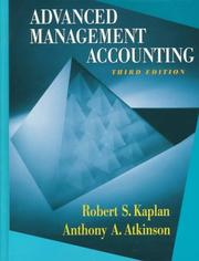 Cover of: Advanced management accounting