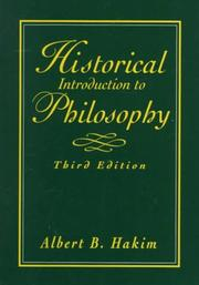 Cover of: Historical introduction to philosophy