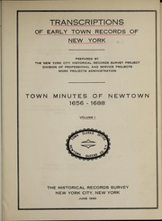 Cover of: Town minutes of Newtown | Newtown (Queens County, N.Y.)