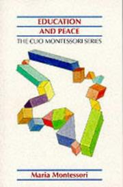 Cover of: Education And Peace (Clio Montessori)