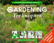 Cover of: The Royal Horticultural Society's Step-by-step Gardening Techniques