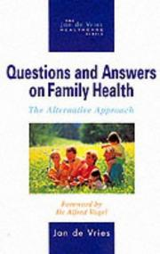 Cover of: Questions and Answers on Family Health (Jan de Vries Healthcare)