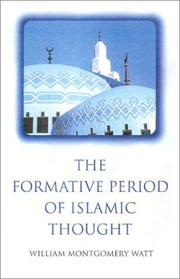 Cover of: The Formative Period of Islamic Thought | William Watt