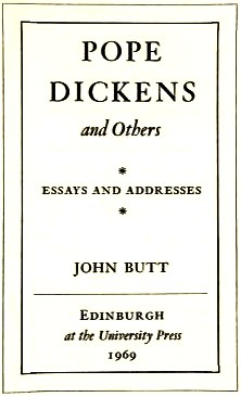 Pope, Dickens and others by John Everett Butt