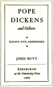 Cover of: Pope, Dickens and others | John Everett Butt