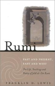 Cover of: Rumi Past and Present, East and West