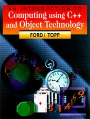Cover of: Introduction to computing using C++ and object technology