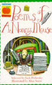 Cover of: Poems of A.Nonny Mouse (Orchard Readalones)