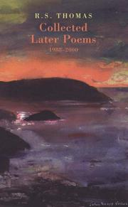 Cover of: Collected later poems, 1988-2000 | Thomas, R. S.
