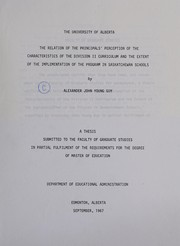 Cover of: The relation of the principals