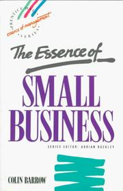 Cover of: The essence of small business