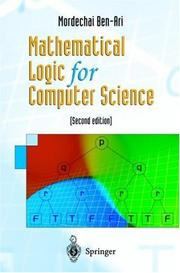 Cover of: Mathematical logic for computer science