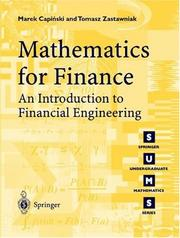 Cover of: Mathematics for finance |