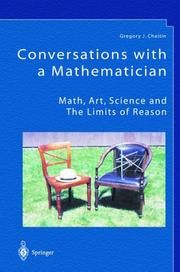 Cover of: Conversations with a mathematician