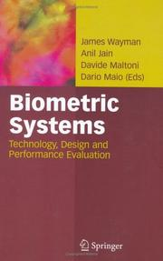 Cover of: Biometric Systems |